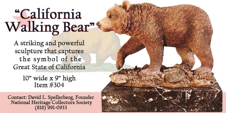 Great American Bronze Works Inc Sculptures California Walking Bear