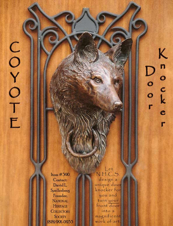 Bronze Coyote Door Knocker