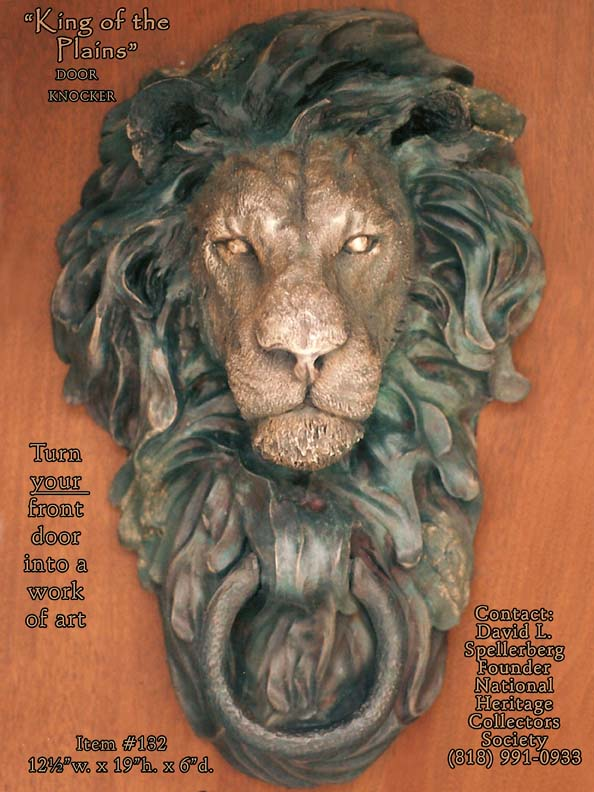 king plains lion door knocker head another name meaning earrings