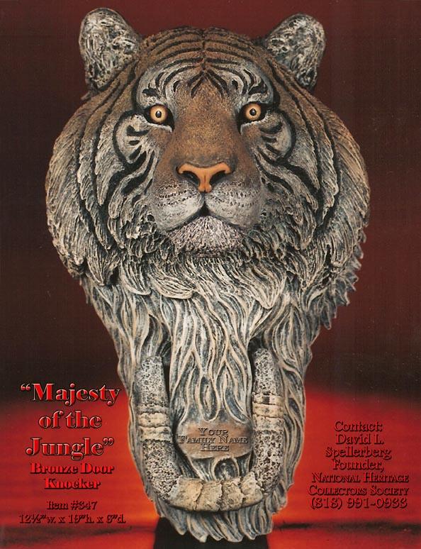 tiger doorknocker bronze tiger door knocker bronze tiger doorknocker ... & Great American Bronze Works Inc. - Sculptures - Majesty Door Knocker