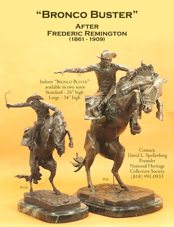 Great American Bronze Works Inc Sculptures Bronco Buster